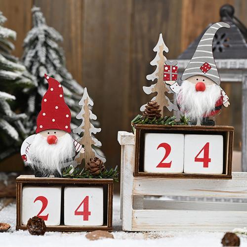 Santa Claus Calendar Christmas Ornaments Merry Christmas Decor for Home 2020 Navidad Christmas Decor Xmas Gifts New Year 2021