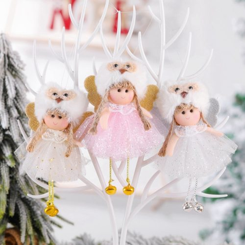 Merry Christmas Ornaments Christmas Angel Elf White Christmas Decorations For Tree Toy Xmas Decor Swiateczne New Year 2020 Natal