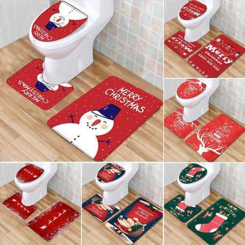 Christmas Snowman Toilet Cover 2020 Merry Christams Decor for Home Cristmas Ornaments Xmas Gifts New Year 2021 Navidad Noel