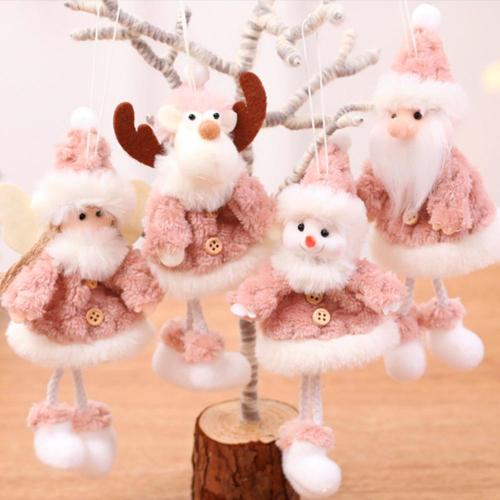Cute Plush Christmas Angel Doll Merry Christmas Decorations for Home Xmas Elf Tree Ornaments Navidad 2020 New Year 2021