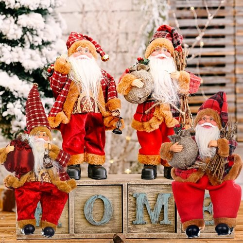 Santa Claus Christms Ornaments Merry Christmas Decor for Home 2020 Navidad Christmas Gift Xams Decor Happy New Year 2021