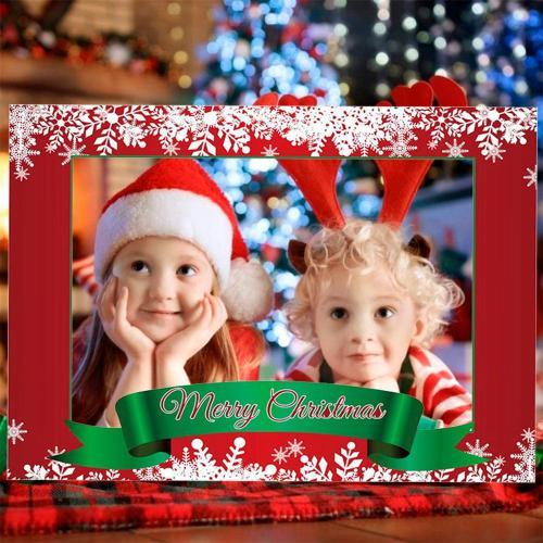 Merry Christmas Photo Frame Merry Christmas Decor for Home 2020 Navidad Christmas Ornaments Happy New Year 2021 Photo Booth