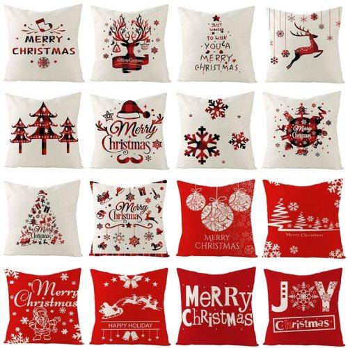 Christmas Cushion Cover Merry Christmas Decor for Home 2020 Navidad Pillow Case Christmas Ornaments New year's Decor Xmas