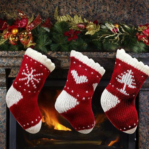 Red Christmas Sock 2020 Merry Christmas Decor for Home Cristmas Tree ornaments Navidad Noel New Year 2021 Xmas Gift Bag