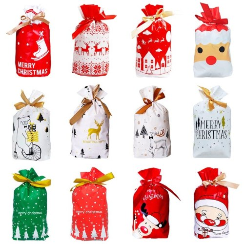 Christmas Gift Bags Merry Christmas Decor for Home 2020 Navidad Ornaments Christmas Presents Bags Xmas Packing Bag New Year 2021