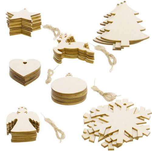 Wooden Christmas Tree Pendant Merry Chtistmas Decor for Home Navidad 2020 Christmas Ornaments Xmas Gifts New Year 2021
