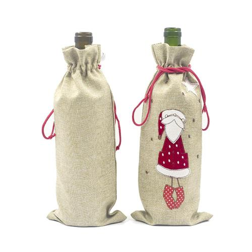Merry Christmas Bottle Cover Wine Christmas Table Decorations Ornament Christmas Decor For Home 2020 Deco Noel New Year 2021