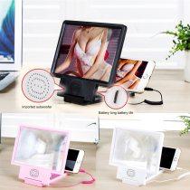 2020 3D Video Speaker Enlarged Screen Glass Mobile Phone Amplifier Folding Magnifier Folding Bracket Display Expander Stand TSFH