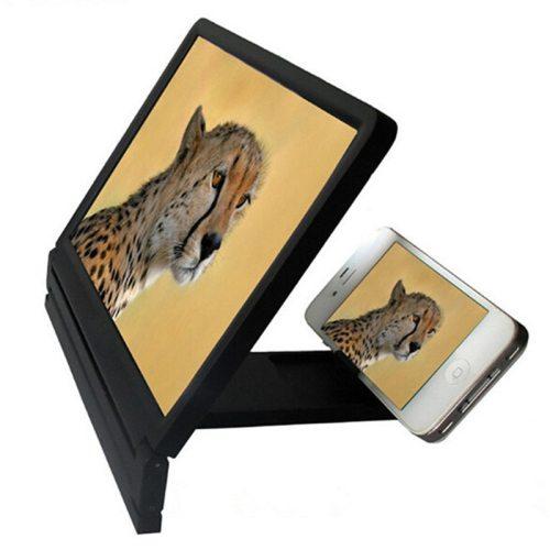 Folding Mobile Phone Screen Magnifying Glass 3D Movie Video Magnifying Glass Mobile Bracket Phone Magnifier Screen 3d
