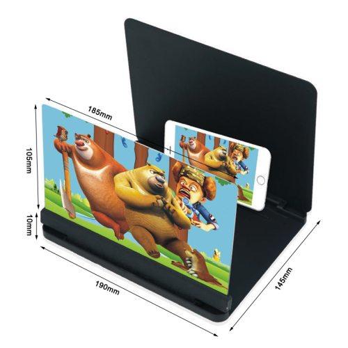 New 3D HD Mobile Phone Screen Magnifier Enlarger Magnifying For Video Amplifier Projector Bracket Desktop Holder Phone Stand
