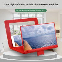 Universal 12'' 3D HD Screen Magnifier HD Folding Screen Amplifier Mobile Phone Magnifying Glass Stand Smart Phone Bracket Holder