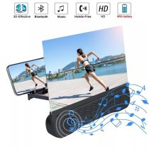 1pc Newest High Qulity Universal 12 Inch 3D Phone Screen Amplifier HD Blu-ray Mobile Phone Magnifier With Bluetooth Speaker
