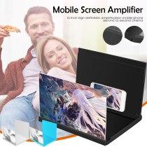 Stereoscopic Amplifying 12 Inch 3D Desktop Wood Bracket Mobile Phone Video Smartphone Screen Magnifier Amplifier Holder Mount