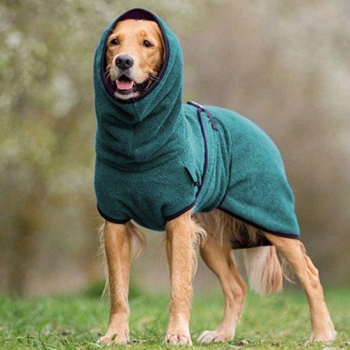 New Fleece High Collar Big Dog Sweater Autumn Pet Clothes for Large Dogs Greyhound Saint Bernard Jacket Dog Coat honden kleding