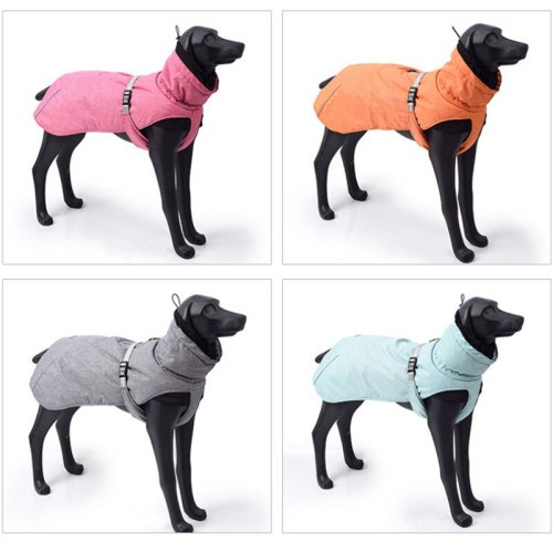 Pet Clothes Outdoor Cold-proof Waterproof Reflective Coat Windproof Warm Thick Coat for Medium Large Dogs Clothes Autumn Winter
