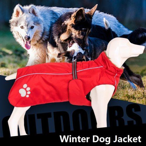 Pet Dog Clothes For Large Big Dogs Winter Warm Big Dog Jackets Padded Fleece Pet Coat Waterproof Design Dog Clothing Ropa Perro