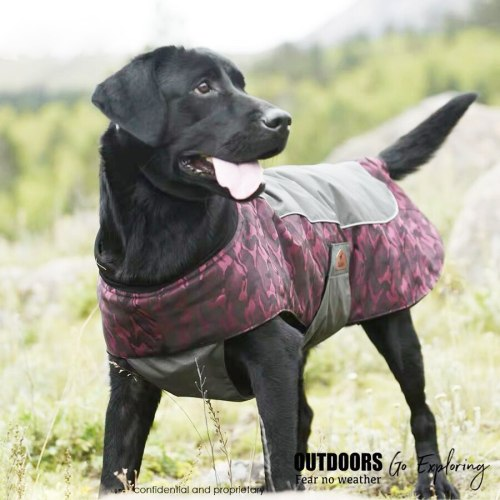 Camouflage Dog Jacket Winter Outdoor Pet Coat Waterproof Windproof Jungle Hunting Camping Clothes For Small Middle Big Dogs