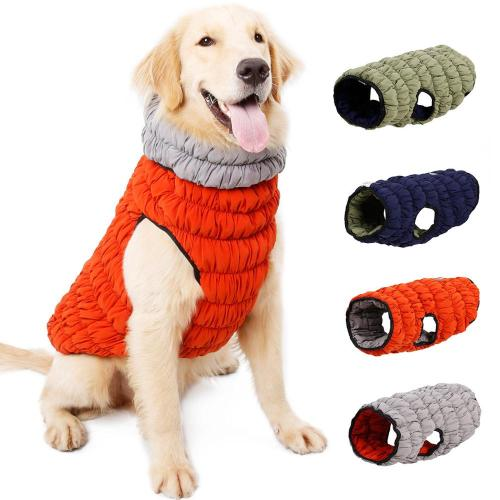 Creative Pet Clothing Thicken Stretch Warm Dog Vest Jacket Nordic Double-sided Dog Clothes