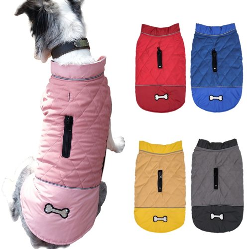 Dog Clothes Waterproof Pet Coat Jackets Warm Down Jacket Winter Coat Hoodies Clothing for Small Puppy Medium Big Dogs #LR3