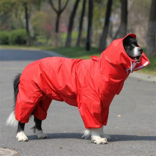 Large Hooded Dog Raincoat Jacket Big Pet Poncho Dog Rain Clothes Waterproof Clothing for Dogs Golden retriever Labrador WLYANG