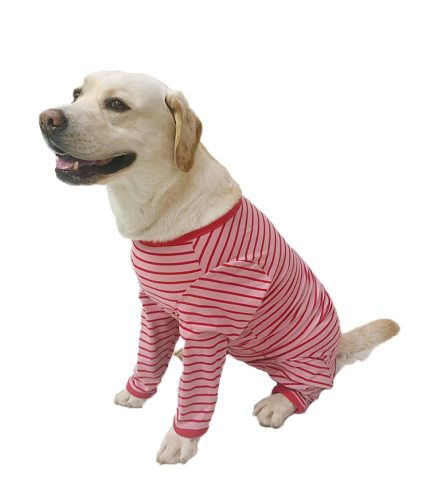 Dog clothes, dog clothes, big dog pajamas, pure cotton dog clothes, fully wrapped, suitable for postoperative recovery