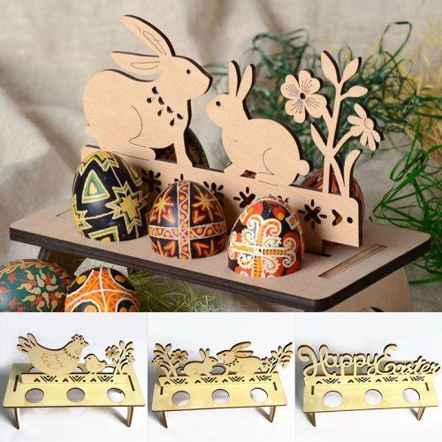 Easter Egg Storage Rack Holder Rabbit Hen Happy Easter Decorations for Home Easter Egg Organizer for Home Shop Windows Ornament