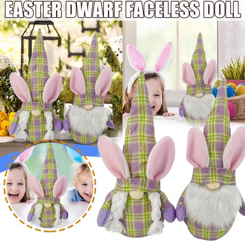 1056 1PC Easter Bunny Gnomes Spring Gift Room Plush Faceless Doll Decorations Present Cute Rabbit Easter Home Decor Accessories
