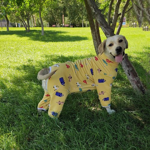 Pet Dog Clothes Pajamas Coat Jumpsuit Cotton thermal dog pajamas 5 colors 5 sizes