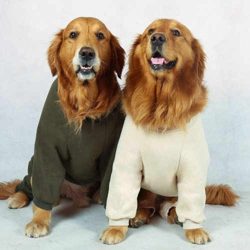 Medium Large dog Clothes for pets Dog autumn and winter pajamas Big dog pajamas Pet clothing