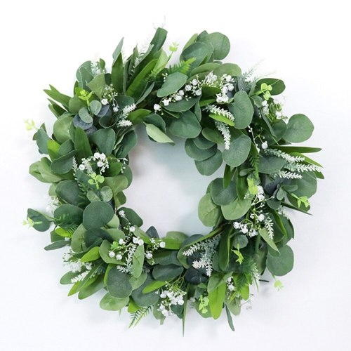 Rattan Ring Eucalyptus Wreath Wedding Decoration Artificial Flower Ornaments Hanging Door Spring Wall Window Simulation Garland
