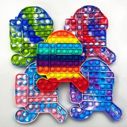 Big Size Anti Stress Among Bubble Us Sensory Toy Simple Dimple Push Pops Squish Funny Pop Antistress Fidget It Reliver Toys