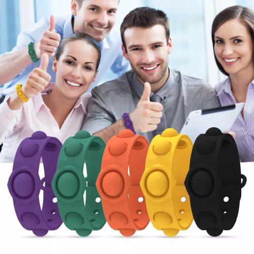 Push Pop Pop Bubble Sensory Fidget Toys Stress Relief Bubble Bracelet Toy Wearable Sensory Wristb and Toys (Wholesale Support)