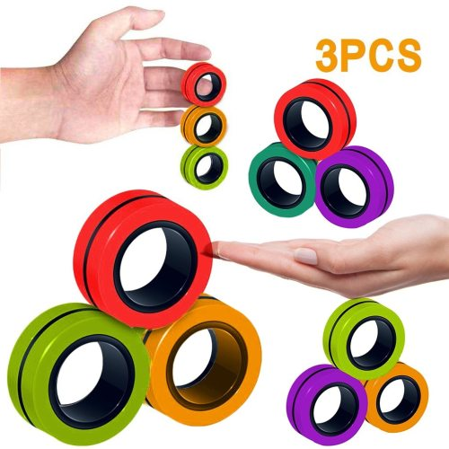 Anti-stress Magnetic Rings Magnetic Bracelet Ring Unzip Toy Magic Ring Props Tools Decompression Toys Magnetic Bracelet Ring (Wholesale Support)
