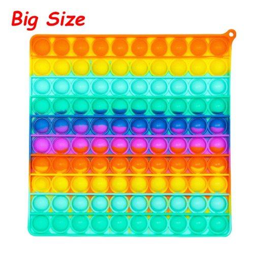 Big Size Pops It Fidget Toys Push Bubble For Schoolbag Board Pendant Hot Adult Stress Relief Toy Popit Squishy Kids Anti-Stress