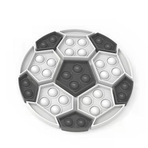 European Cup Football theme Pop it Fidget Reliver Stress Toys Rainbow Push It Bubble Antistress Toys Adult Children Stress Relief Sensory Toy