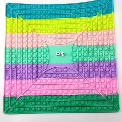 40cm Apple Shaped Push Bubble Sensory Toy Squeeze Kids Adult Chessboard Fidget Toys Autism Stress Relief Hand Simple Dimple Toy