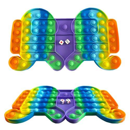 32.5cm New Autism Pop Big Game Fidget Toy Rainbow Chess Board Push Bubble Popper Fidget Sensory Toys Anti Stress Children Adults Gifts