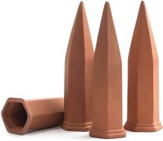 Plant Self-Watering Stakes, Plant Automatic Watering Spikes for Vacation(4 pack), Terracotta Watering Devices