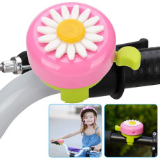 Bike Bell for Kid , Cute Daisy Children's Bike Bell, Cycling Ring Horn for Bicycle 22mm Handlebar