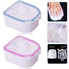 2pcs Thicken Nail Soak Off Bowl, Nail Art Gel Polish Remove, Soaking Bowl Manicure Treatment Tool