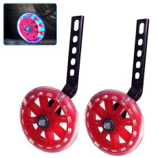 Bicycle Training Wheels, Glowing Adjustable Bicycle Training Wheels, Bike Stabilizer for Toddlers Kids
