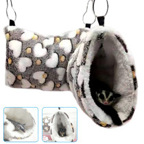 Pet Hammock for Small Animals, Hamster Hanging Cage, Hanging Tunnel for Chinchilla Ferret Squirrel
