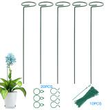 6 Pcs Plant Support Stakes, Garden Flower Tomato Support Stake, Steel Single Stem Support Cage