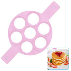 Silicone Pancake Mold Maker, Cookie Mold for Kids, Pancake Mold 7 Cavity for Eggs Muffins Burgers