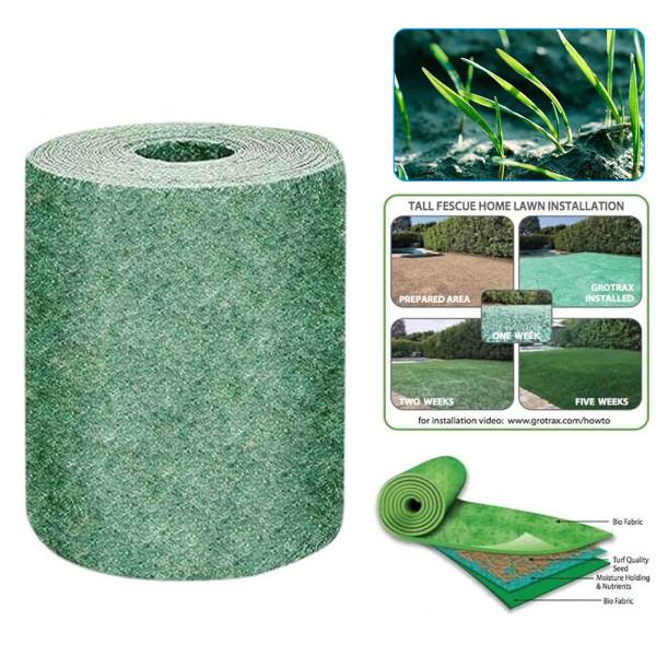2pcs Grass Seed Mat, Gardening Grass Seed Carpet,  Biodegradable Grass Straw Seed Pads