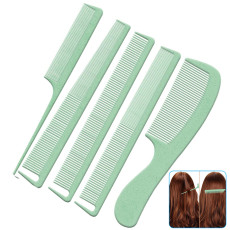 Comb Set, The Ultimate Wheat Straw Hair Combs, Anti-static hair care comb for Women Barbers
