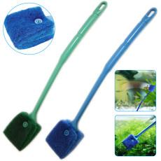 Fish tank Algae Cleaning Brush, Double-Sided Fish Tank Sponge Brush Cleaner, Fish Tank Scrubber