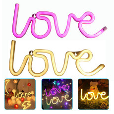 LED Neon Lights Signs, Neon Light for Bedroom Party Supplies, USB Charging & Battery for Home Decro