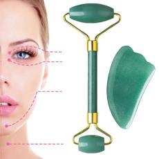 Jade Roller for Face, Jade roller and gua sha set for Face, Facial roller massager 100% Natural Quartz