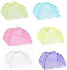Foldable Household Food Umbrella, Washable Mesh Food Lid, Anti Mosquito Net Tent Kitchen Gadgets